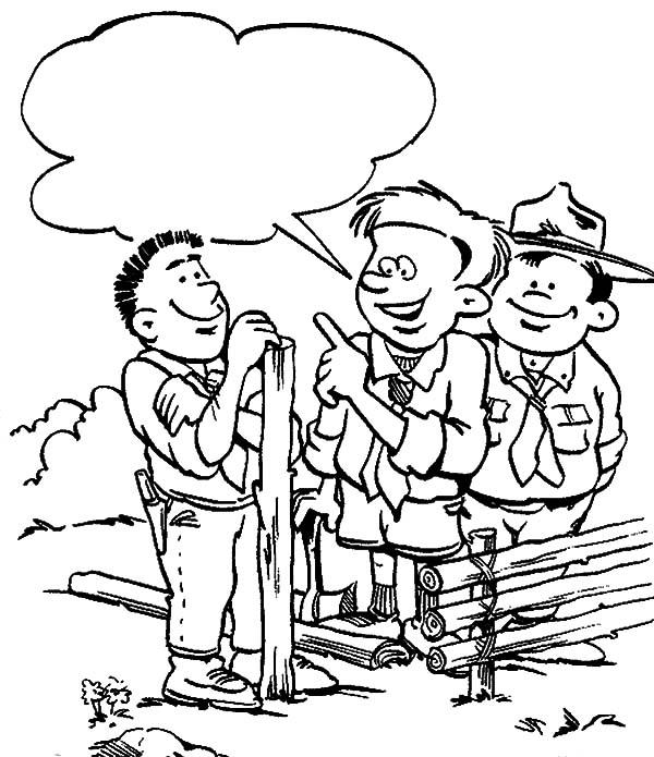 Boy Scouts Lesson Coloring Pages : Best Place to Color