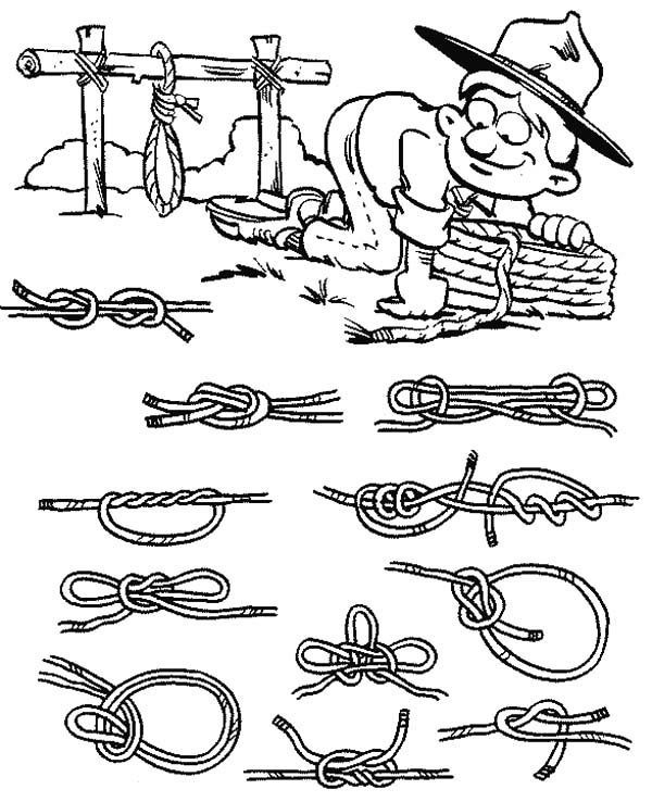 Boy Scouts Must Know About Knot Coloring Pages : Best