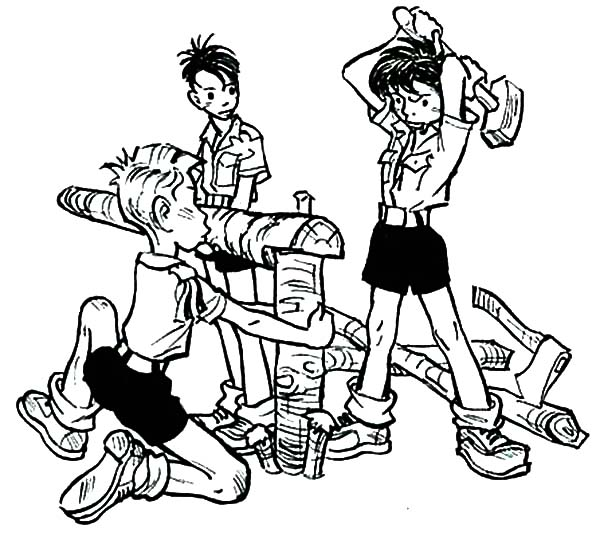 Boy Scouts Set Up Tent Together Coloring Pages : Best