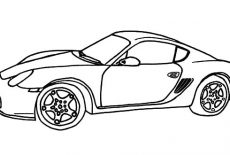 Racing Car GT Bugatti Car Coloring Pages : Best Place to Color