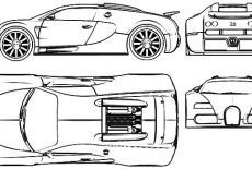 Racing Car Bugatti Car Coloring Pages : Best Place to Color