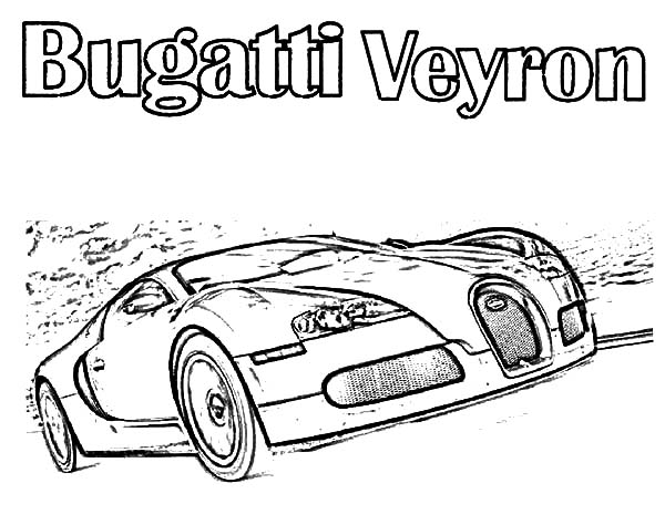 Free coloring pages of coches bugati