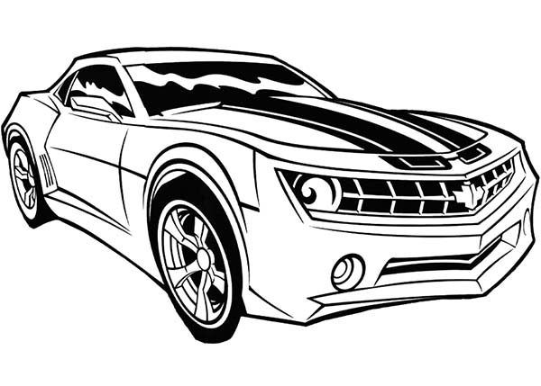 Bumblebee Car Chevy Camaro Coloring Pages Auto Electrical