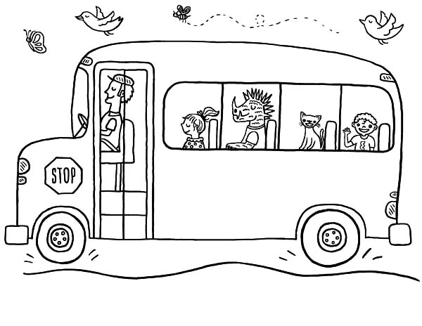 Bus Driver Driving School Bus Coloring Pages : Best Place