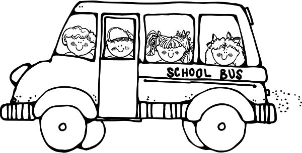 Bus Driver Take Student To School Coloring Pages : Best