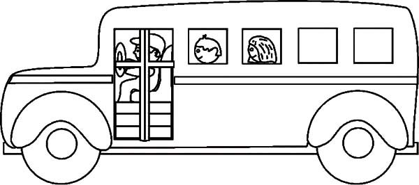 School Bus Driver Coloring Page Sketch Coloring Page