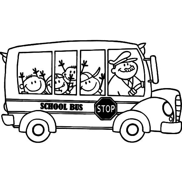 Bus Driver Wearing Hat Coloring Pages : Best Place to Color