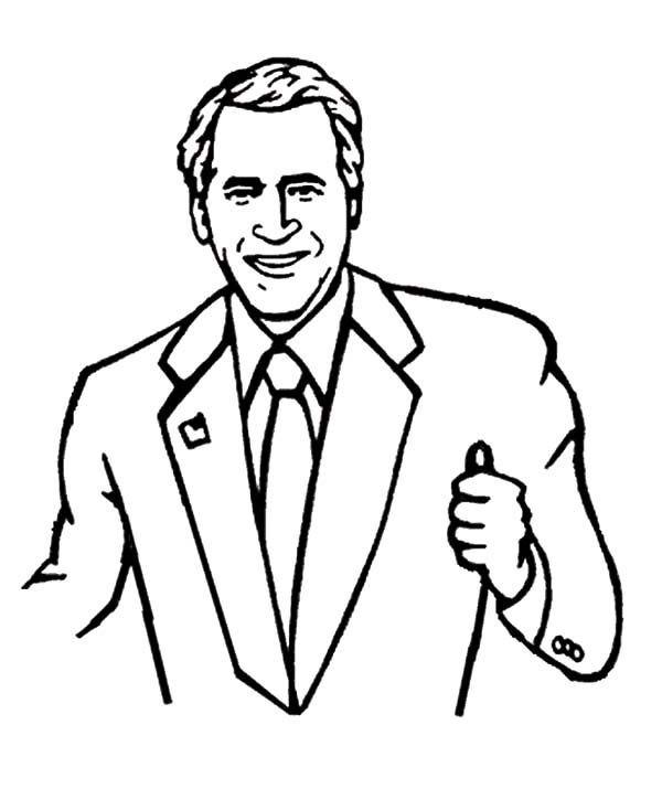 Business with George W Bush Coloring Pages: Business with