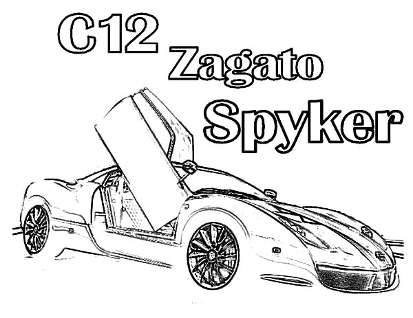 C12 Zagato Spyker Bugatti Car Coloring Pages : Best Place