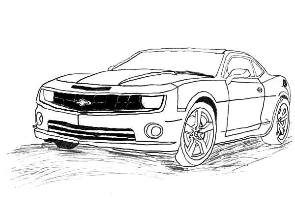 Camaro Bumblebee Car Coloring Pages : Best Place to Color