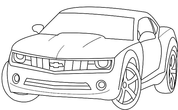 Chevrolet Camaro Bumblebee Car Coloring Pages: Chevrolet