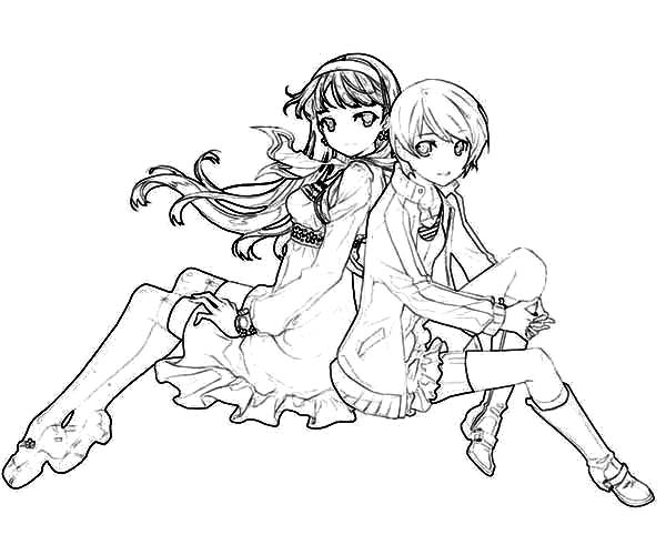 Chie Satonaka Best Friends Coloring Pages Best Place To Color