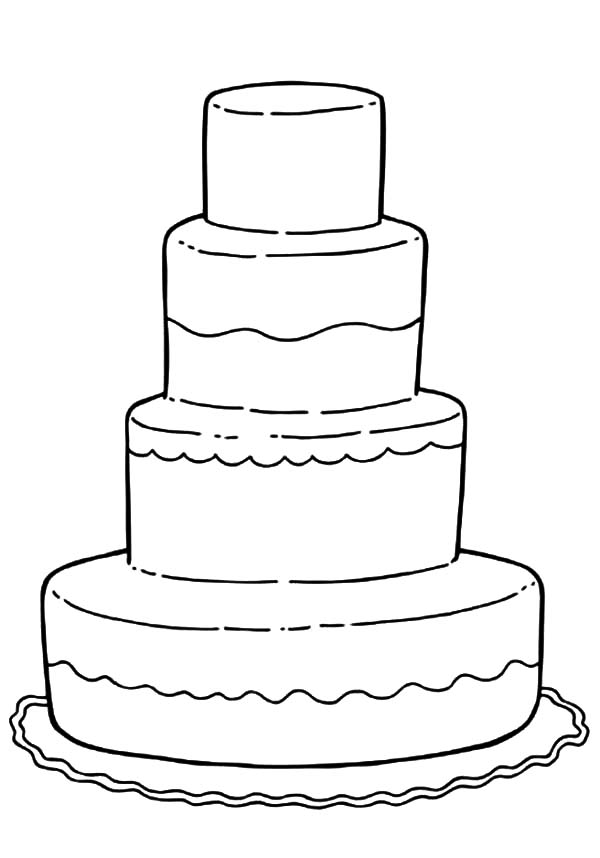 Decorating Wedding Cake Coloring Pages : Best Place to Color