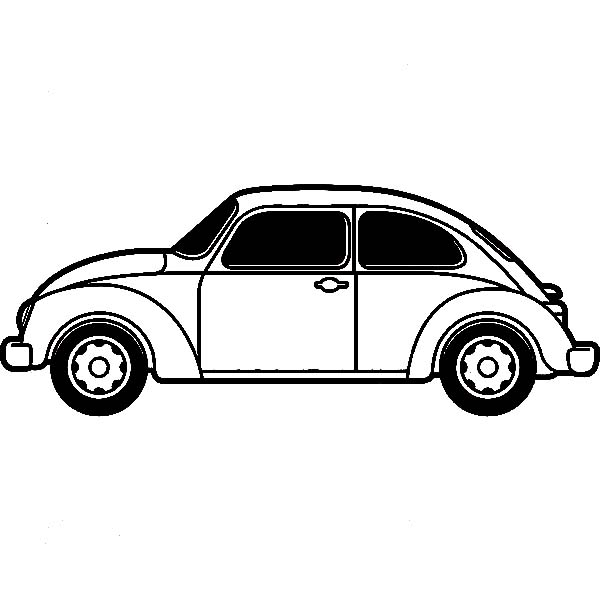 Drawing Beetle Car Coloring Pages: Drawing Beetle Car