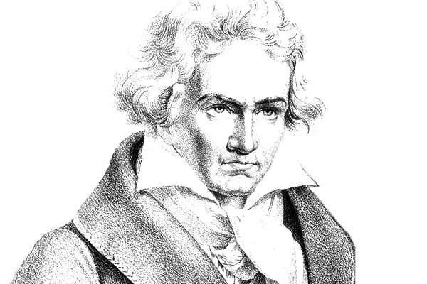 Ludwig Van Beethoven Coloring Page : Best Place to Color