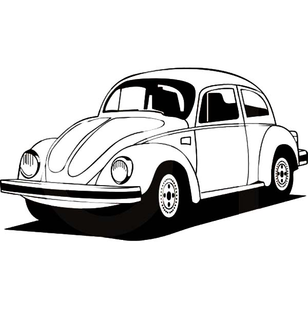 Germany Volkswgen Beetle Car Coloring Pages: Germany