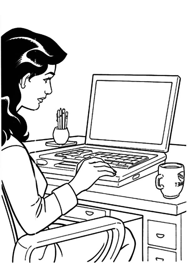 Girl is Working Her Business Coloring Pages: Girl is