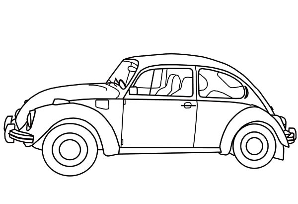 Vw Beetle Coloring Page