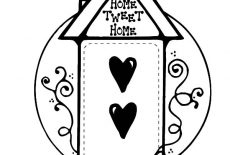 Bird House Made From Cookies Coloring Pages : Best Place