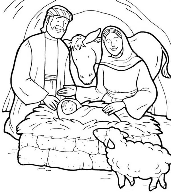 Jesus Is Born Bible Christmas Story Coloring Pages Best