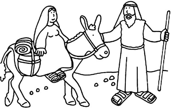 Joseph and Mary Bible Christmas Story Coloring Pages