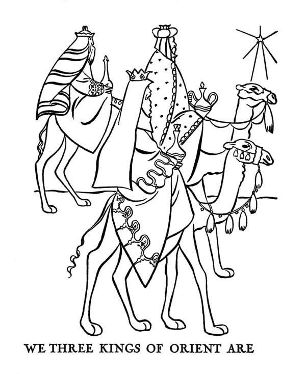 Journey of Three Kings Bible Christmas Story Coloring