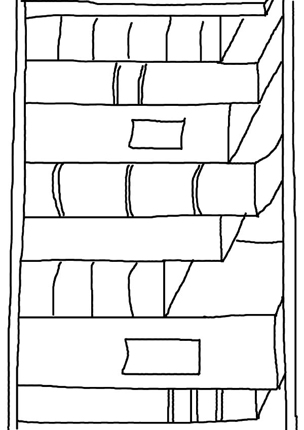 Kids Drawing Bookshelf Coloring Pages : Best Place to Color
