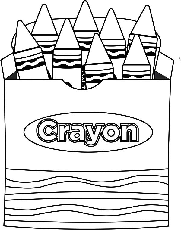 Lets Draw Picture Box Crayons Coloring Pages