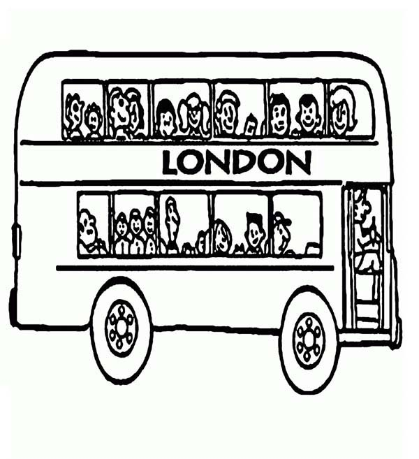 London Double Decker Bus Driver Coloring Pages : Best