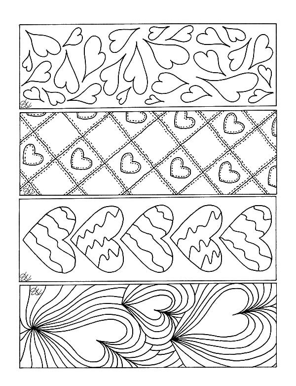 Love Theme Bookmarks Coloring Pages : Best Place to Color