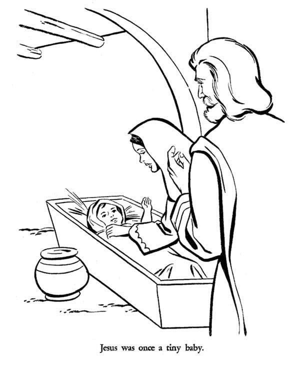 Mary and Joseph and Baby Jesus Bible Christmas Story