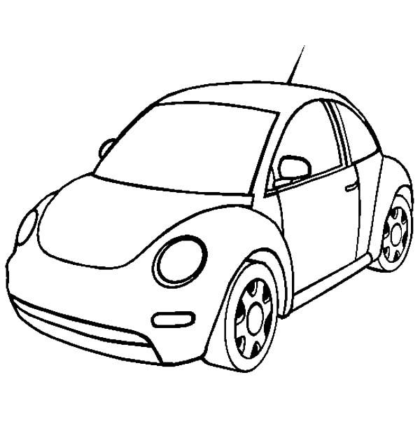 New Volkswagen Beetle Car Coloring Pages: New Volkswagen
