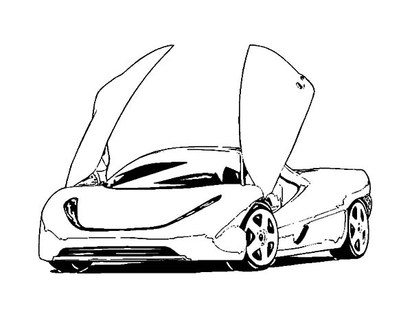 Modified Car Coloring Pages. Diagrams. Wiring Diagram Images