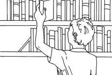 Economic Book Bookshelf Coloring Pages : Best Place to Color