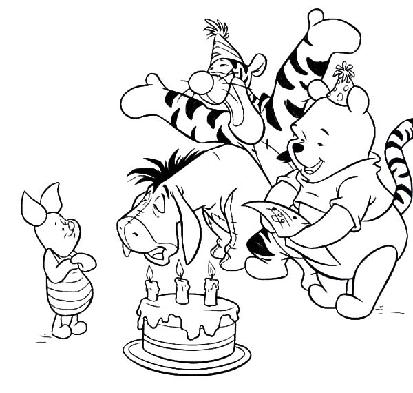 Piglet Birthday Surprise Party Coloring Pages : Best Place