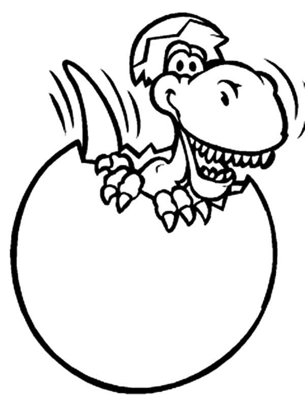 Dinosaur Egg Coloring Pages Broken Dinosaurus