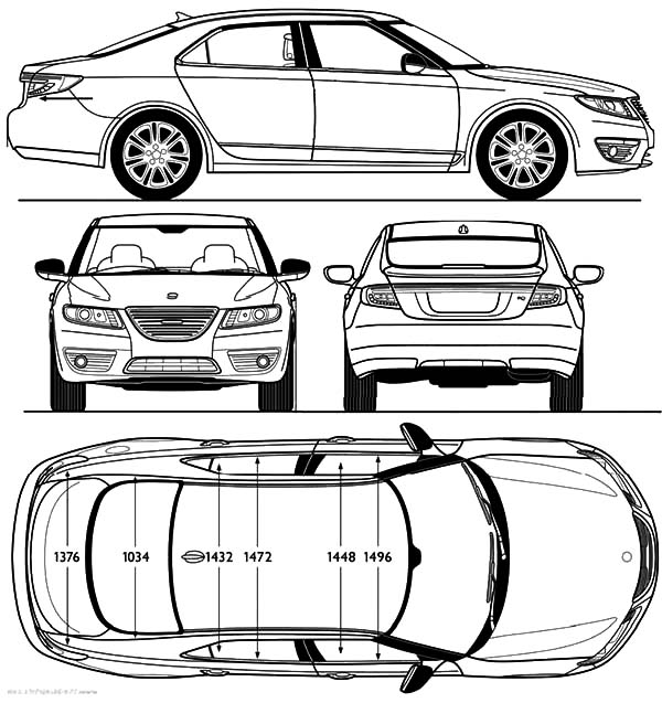 Section Parts BMW Car Coloring Pages: Section Parts BMW