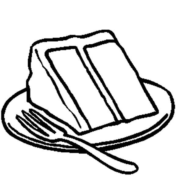 Serving Delicious Cake Coloring Pages: Serving Delicious