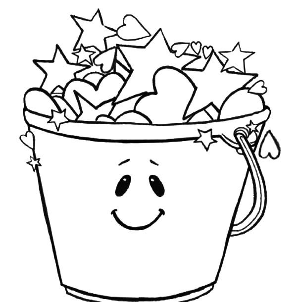 Fill A Bucket Coloring Page