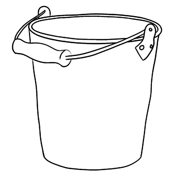 Taking Water With Bucket Coloring Pages : Best Place to Color