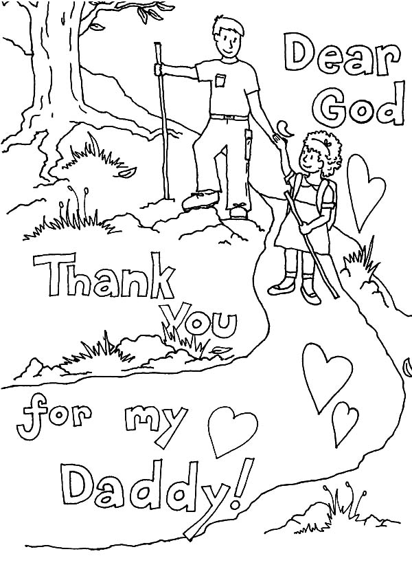 Thank You God You Give Me The Best Dad Coloring Pages