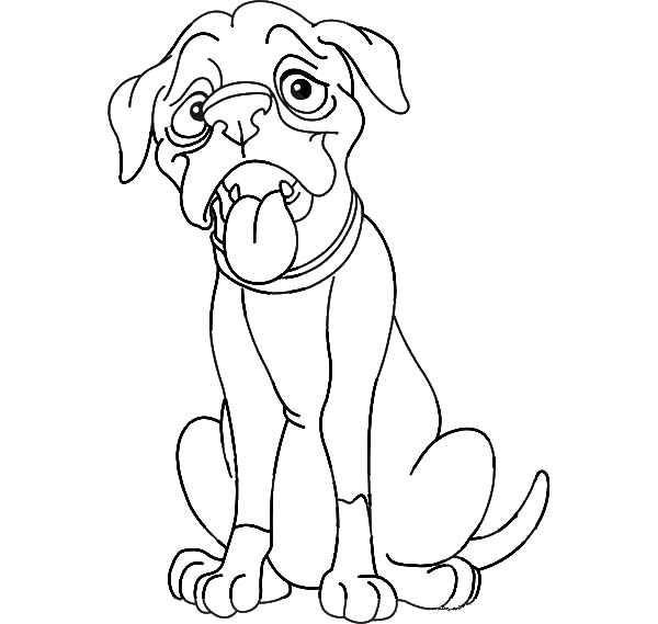 Boxer Dog Coloring Page, Boxer, Free Engine Image For User