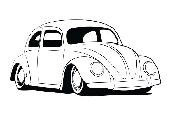 Sketch Volkswagen Beetle Coloring Pages