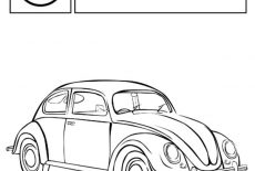 Volkswagen New Beetle Car Coloring Pages : Best Place to Color