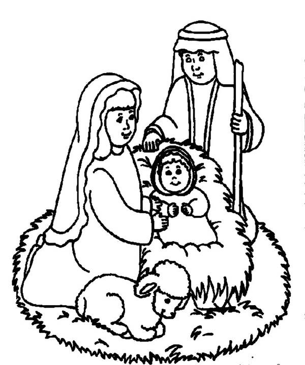 Welcoming the Savior Bible Christmas Story Coloring Pages