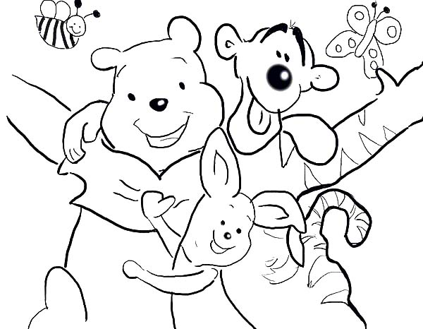 Winnie the Pooh Best Friends Coloring Pages: Winnie the