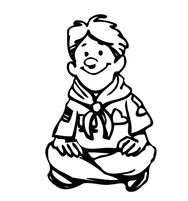 Boy Scout In Scouting Coloring Pages : Best Place to Color