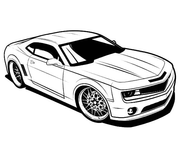 Bumble Bee Camaro Cars Coloring Pages : Best Place to Color