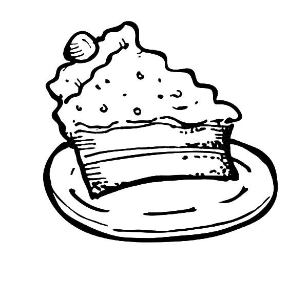 Cake Slice Coloring Pages