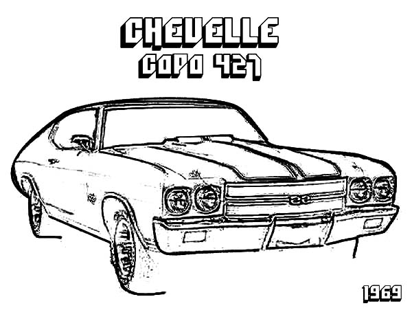 Camaro Cars Chevelle CAPA 427 Coloring Pages : Best Place